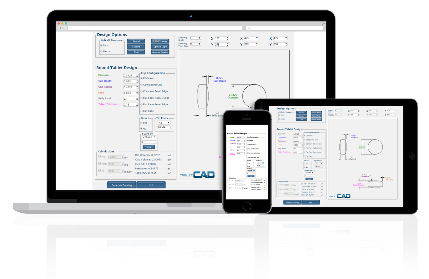 TabletCAD - Natoli Engineering's Web-based Tablet Design