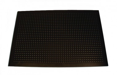 "24"" x 36"" BLK WORK FLOOR 3/8"" THICK MAT"