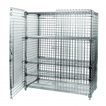4 SHELF SECURITY UNIT WITH LOCKABLE FRONT HANDLE