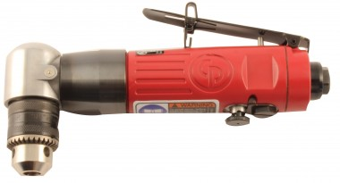 "3/8"" RIGHT ANGLE PNEUMATIC DRILL WITH CHUCK & KEY"