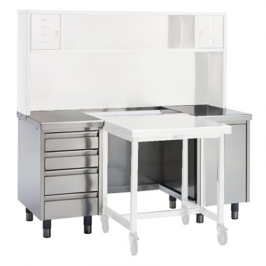 stainless steel inspection desk - closeouts